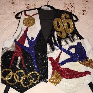 Vintage Atlanta Sequin Olympic Vest Ceremony